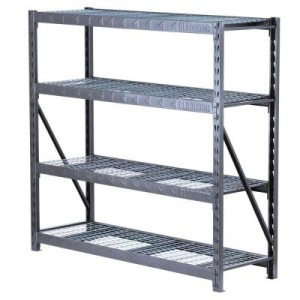 gladiator this thing is a beast dimensions are 72u2033 height 77u2033 width 24u2033 depth and each shelf holds up to lbs for a total of lbs - Gladiator Shelving